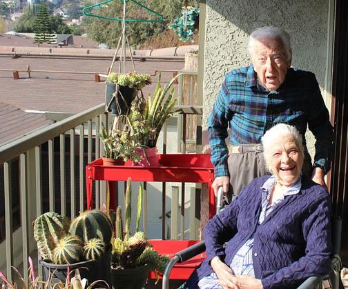 Sammy and Marie in their balcony garden